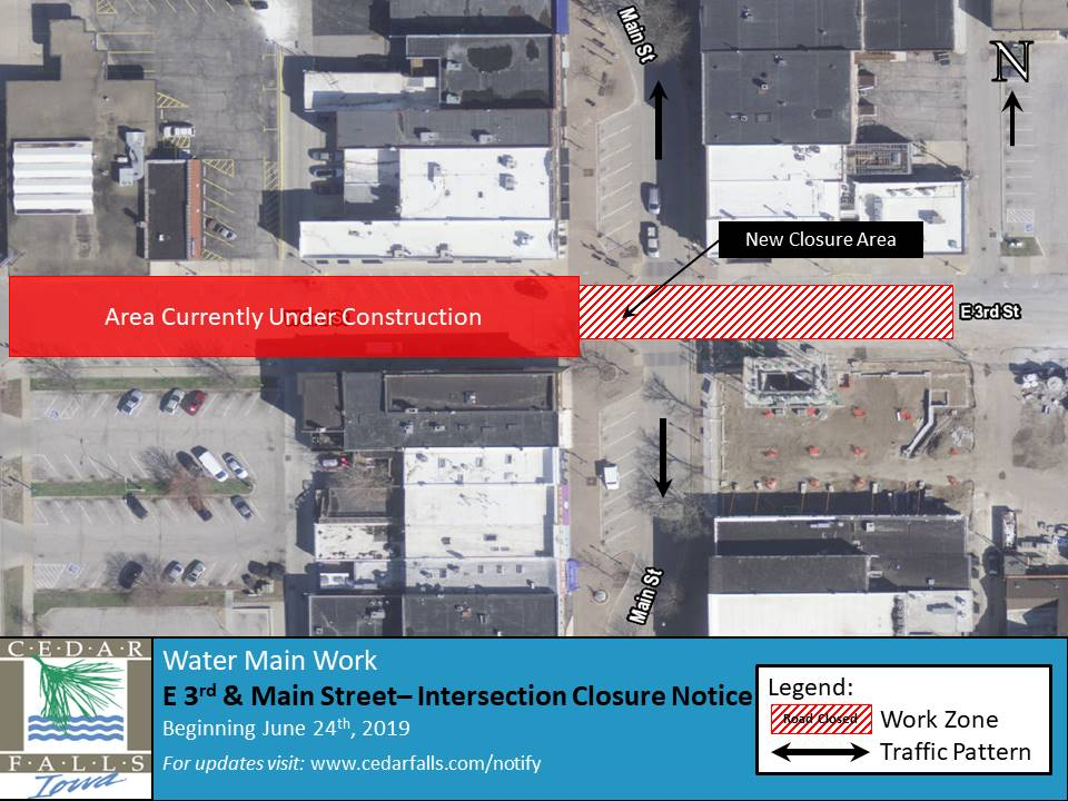 E 3rd and Main St Intersection Closure Notice