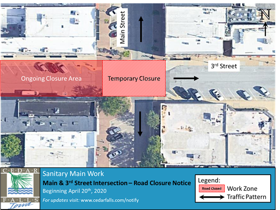 3rd St and Main St Intersection Map